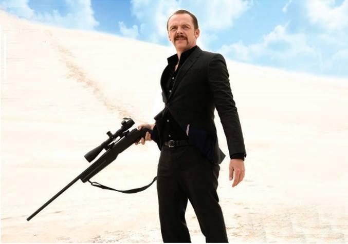 Simon Pegg in Kriv Stenders' Kill Me Three Times.