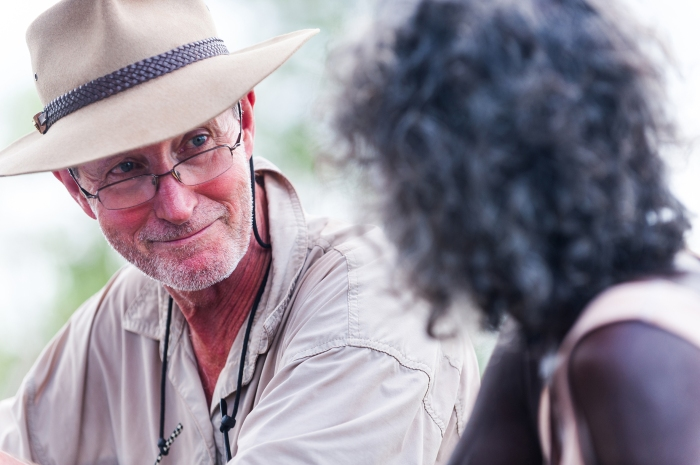 Director Rolf de Heer on the set of Charlie's Country.