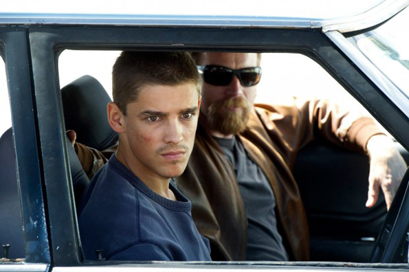 Brenton Thwaites and Ewan McGregor in a scene from Julius Avery's Son of Gun.