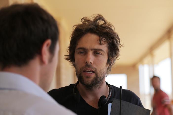 Director Hugh Sullivan on set. (Photo by Brendan Cain)
