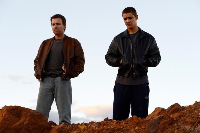Brendan (Ewan McGregor) and JR (Brenton Thwaites) in a scene from Son of a Gun.