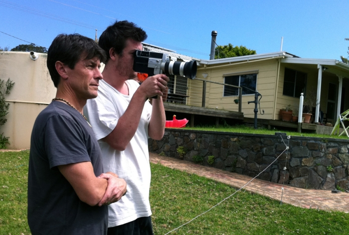 Director, Phillip Crawford and Cast Member Michael McKay operating the camera