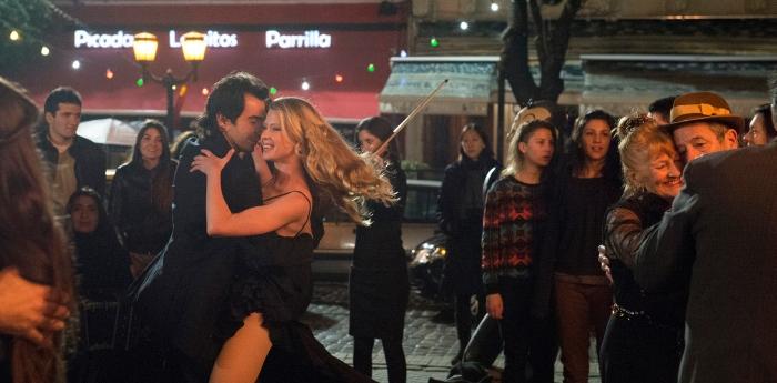 Carolyn (Emma Booth) dances the tango. Photo by Tungsten