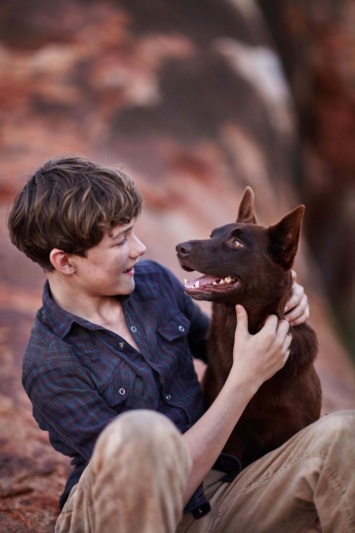 Levi Miller and Blue Dog