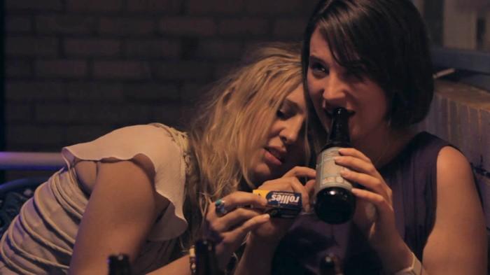 Rain Fuller (Sam) and Jenni Townsend (Jules) in Pretty Good Friends.