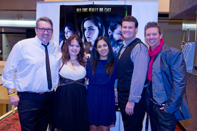 Producers and Director Darrell Plumridge, Linda Millar, Jessica Magro, Ashley Pardey and Darwin Brooks