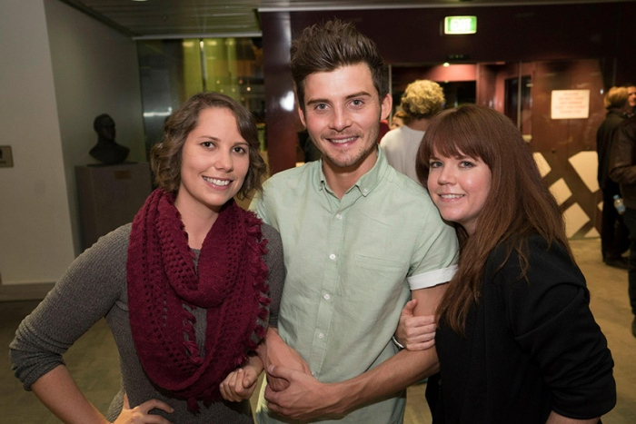 Jess Black, Liam Graham, Miley Tunnecliffe at the film's premiere.