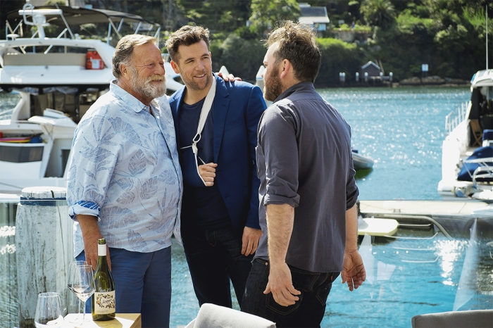 Jack Thompson, Patrick Brammall and Brendan Cowell.