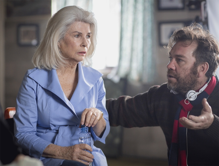 Robyn Nevin on set with director, Brendan Cowell.