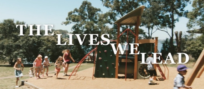 The title of the film, over the playground that is our central location