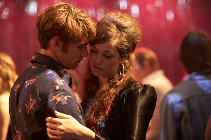 Sparra (Alex Russell) and Paula (Jessica De Gouw) in a scene from Cut Snake.