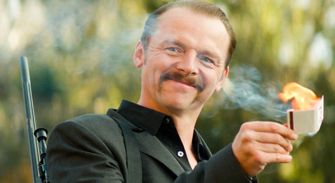 Simon Pegg in Kriv Stenders' Kill Me Three Times.