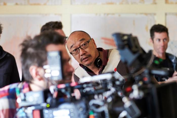 Cut Snake director Tony Ayres on set.