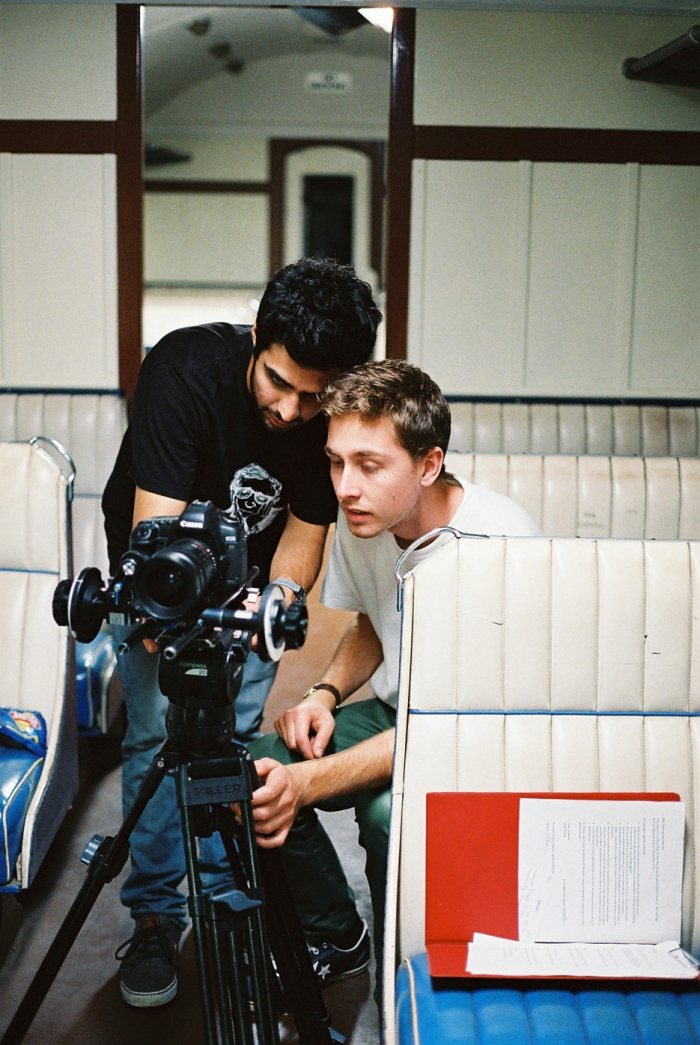 Director Lewis Rodan & Cinematographer Naveed Farro - Framing the shot (photo by Samantha Hughes)