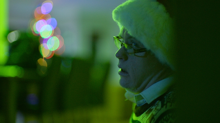 Jerry (Gerard O'Dwyer) finds out a horriible truth in Craig Anderson's Red Christmas. (Photo by Douglas Burdorff)