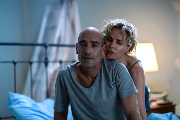 Ray (Jean-Marc Barr) & Iris (Radha Mitchell) in Whoever Was Using This Bed (Photo by Mark Rogers)