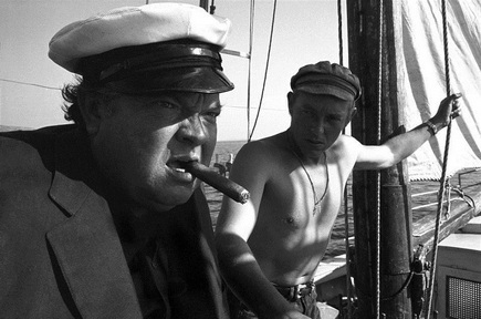Orson Welles in The Deep.