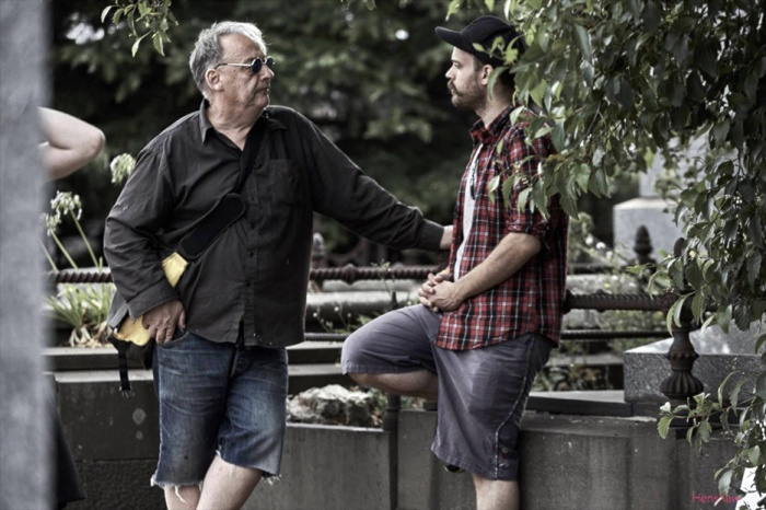 Director Robert Chuter with DOP Rudi Siira