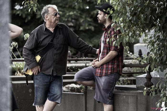 Director Robert Chuter with DOP Rudi Siira