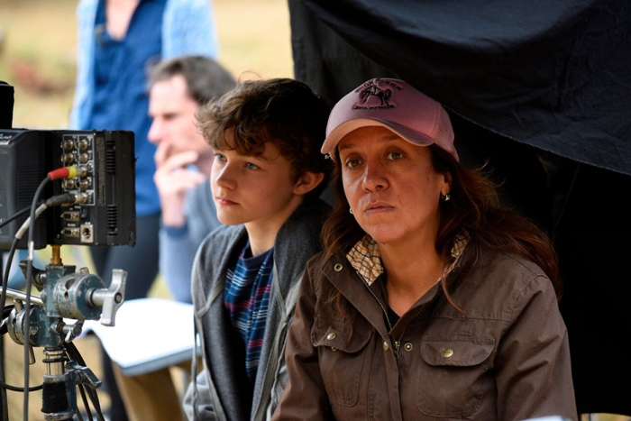 Actor Levi Miller (Charlie Bucktin) and director Rachel Perkins.